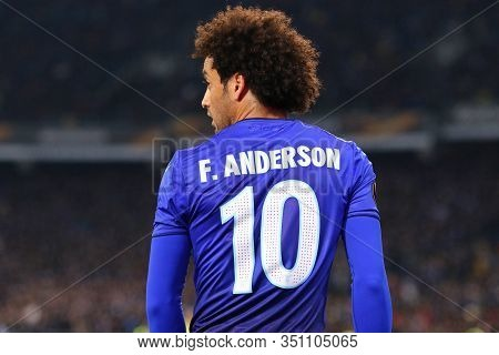Kyiv, Ukraine - March 15, 2018: Felipe Anderson Of Ss Lazio In Action During Uefa Europa League Roun