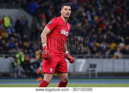 Kyiv, Ukraine - March 15, 2018: Goalkeeper Thomas Strakosha Of Ss Lazio In Action During Uefa Europa
