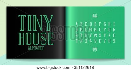 Minimal Font And Alphabet Set. Lettering Design For Magazine, Poster, Logo Or Advertising Media. Typ