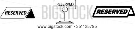 Reserved Icon Isolated On Background  Service, Setting, Shop, Sign