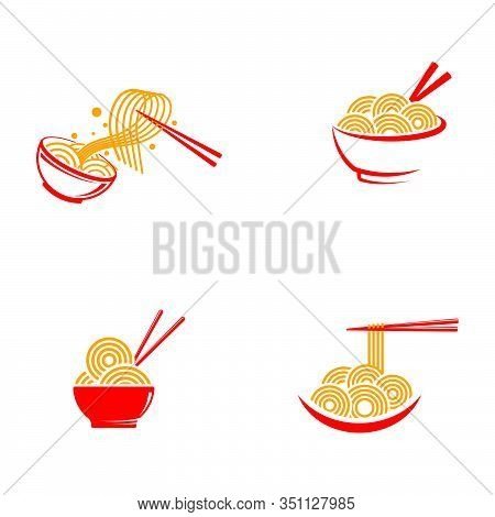 Noodles Food Sign Symbol Illustration