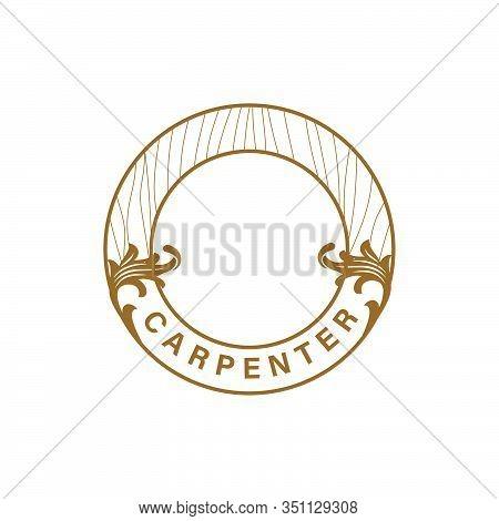 Logo Design Concept About Carpenter - Fine Wood - Hand Made - Furnishing . Carpenter Design Element