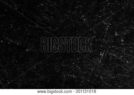 Blank Black Scratched Horizontal Distress Texture Chalkboard Background