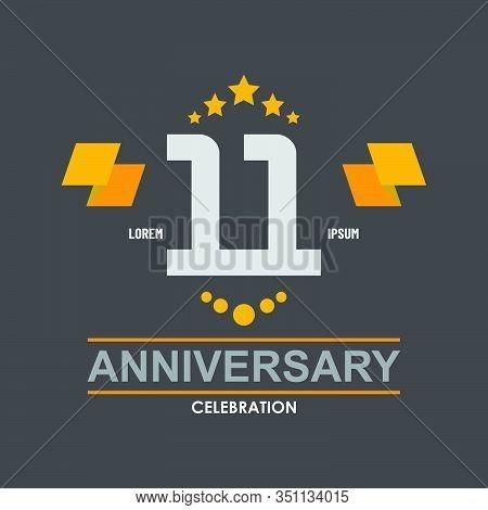 11 Anniversary Celebration Vector Concept Template Design Illustration