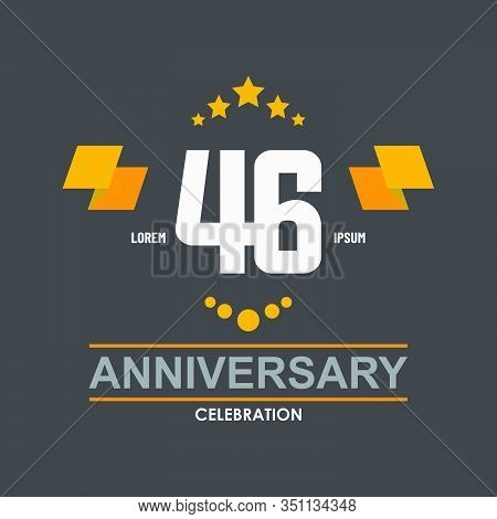 46 Anniversary Celebration Vector Concept Template Design Illustration