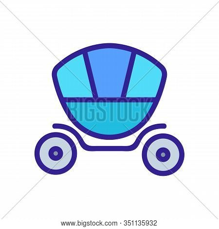 Coach Brougham Icon Vector. Thin Line Sign. Isolated Contour Symbol Illustration