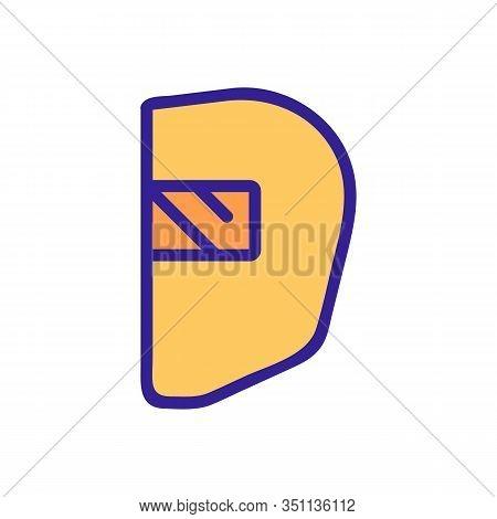 Blacksmith Mask Icon Vector. Thin Line Sign. Isolated Contour Symbol Illustration