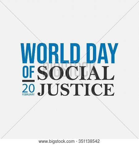 World Justice Day Typography Lettering Logo