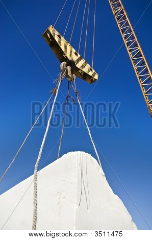 Lifting Pulley In A Marble Quarry