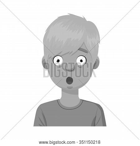 Isolated Object Of Guy And Fright Icon. Collection Of Guy And Surprise Stock Symbol For Web.