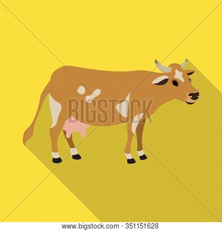 Cow Of Animal Vector Icon.flat Vector Icon Isolated On White Background Cow Of Animal.