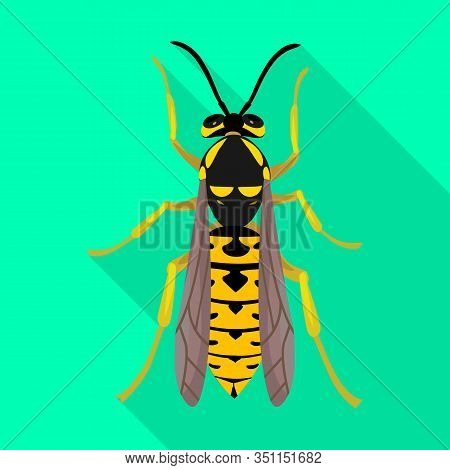 Hornet Vector Icon.flat Vector Icon Isolated On White Background Hornet.