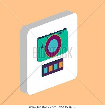 Photo Camera Simple Vector Icon. Illustration Symbol Design Template For Web Mobile Ui Element. Perf