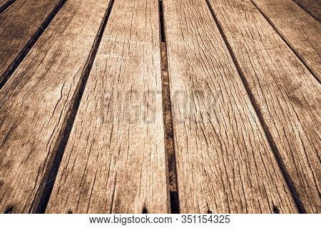 Old Wood Texture Background Surface. Wood Texture Table Surface Top View. Vintage Wood Texture  Back