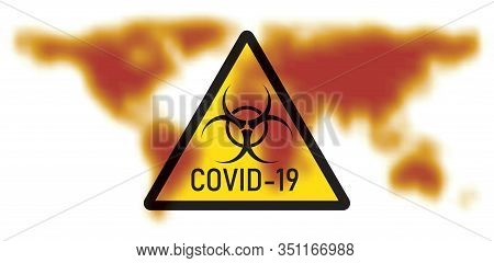 Vector Illustration Of Concept Of 2019-ncov Novel Coronavirus Biological Hazard. Coronavirus Danger
