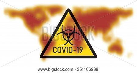Vector Illustration Of Concept Of 2019-ncov Novel Coronavirus Biological Hazard. Coronavirus Danger