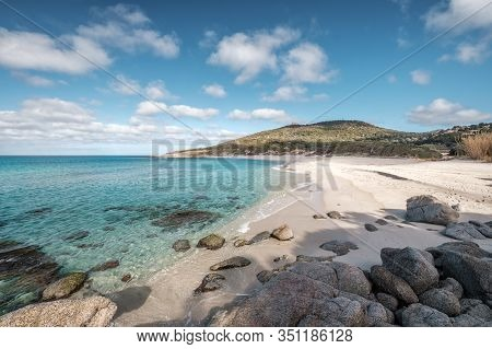 White Sands Of Bodri Beach In Corsica