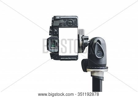 Isolated, Mock Up Professional Without Slr Camera, On A White Background