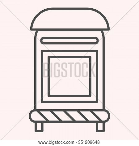 Mailbox Thin Line Icon. Mail Postage Letterbox. Postal Service Vector Design Concept, Outline Style