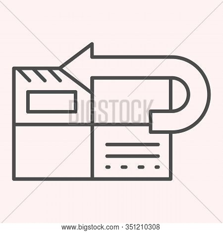 Return To Sender Thin Line Icon. Returned Mail, Envelope With Curved Arrow. Postal Service Vector De