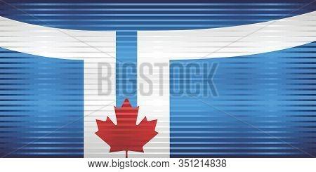 Shiny Grunge Flag Of The Toronto - Illustration,  Three Dimensional Flag Of Toronto
