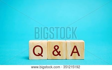 Wooden Blocks Q&a ( Question And Answer Concept). Communication, Brainstorming, Business. Search For
