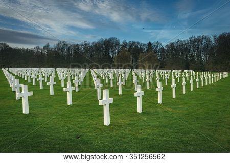 American Military World War Two Cemetery, Ardennes, Belgium. 15 Februari 2020.