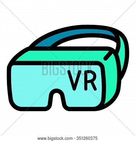Vr Headset Icon. Outline Vr Headset Vector Icon For Web Design Isolated On White Background