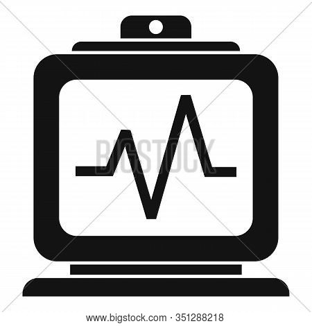 Hospital Electrocardiogram Icon. Simple Illustration Of Hospital Electrocardiogram Vector Icon For W