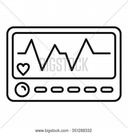 Patient Electrocardiogram Icon. Outline Patient Electrocardiogram Vector Icon For Web Design Isolate