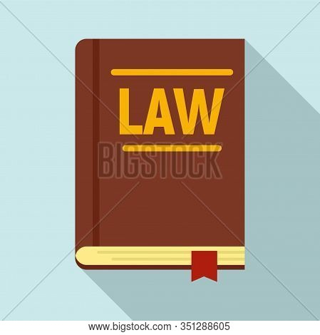 Legislation Book Icon. Flat Illustration Of Legislation Book Vector Icon For Web Design