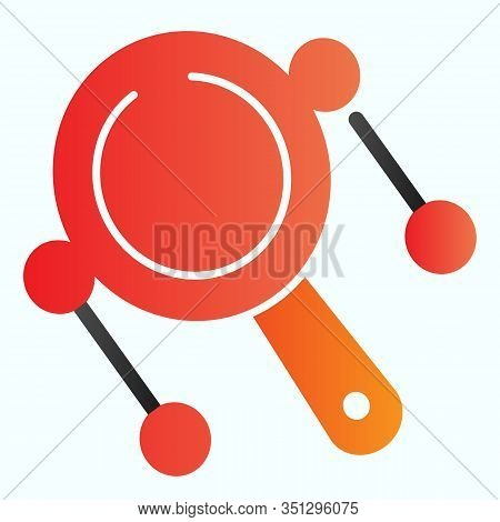 Rattle Drum Flat Icon. Mexican Pellet Drum Vector Illustration Isolated On White. Musical Instrument