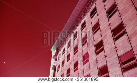 Modern Architecture Duo Tone Background. Geometric Background