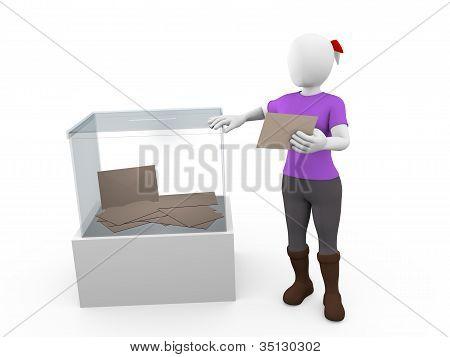 Ballot Box Woman