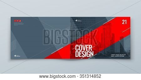 Horizontal Catalog Template Layout Design. Landscape Corporate Business Annual Report, Catalog, Maga
