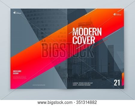 Brochure Template Layout Design. Corporate Business Brochure, Annual Report, Catalog, Magazine, Flye