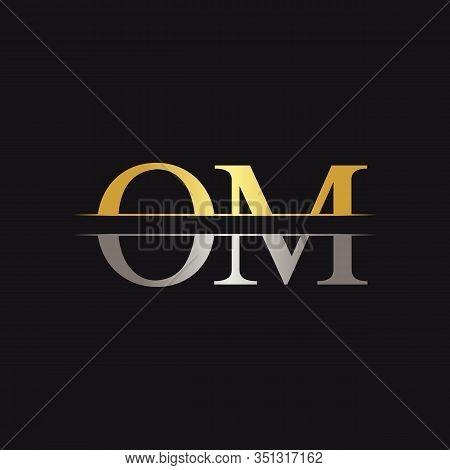 Initial Monogram Letter Om Logo Design Vector Template. Om Letter Logo Design