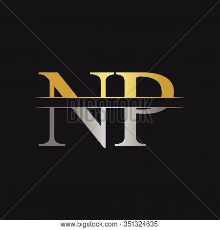 Initial Monogram Letter Np Logo Design Vector Template. Np Letter Logo Design