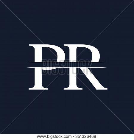 Initial Monogram Letter Pr Logo Design Vector Template. Pr Letter Logo Design