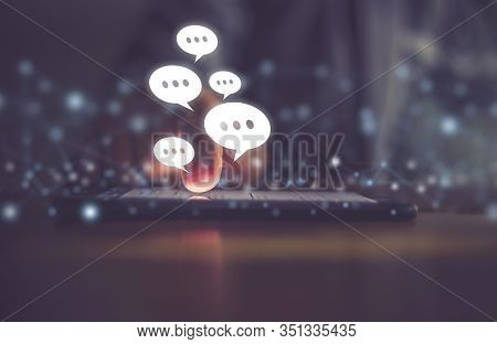 Businessman Using Smart Phone / Social Media Concept