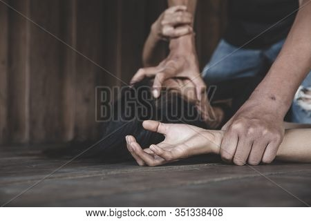 Man Physically Abusing His Girlfriend, Help Victim Of Domestic Violence, Sexual Abuse And Rape, Huma