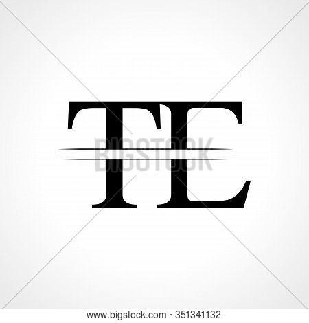 Initial Letter TE Logo Design Vector Template. Linked Typography TE Letter Logo Design