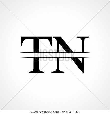 Initial Letter TN Logo Design Vector Template. Linked Typography TN Letter Logo Design