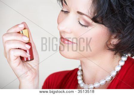 Woman And Nail Polish