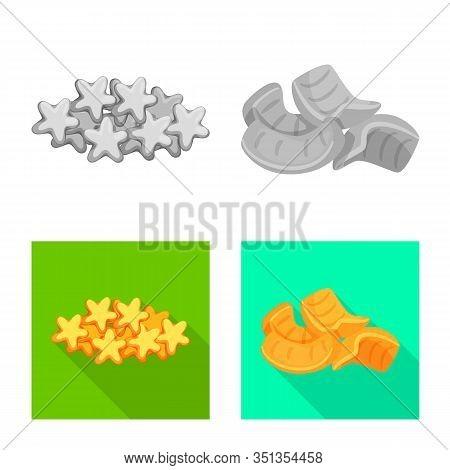 Vector Design Of Oktoberfest And Bar Logo. Set Of Oktoberfest And Cooking Stock Vector Illustration.