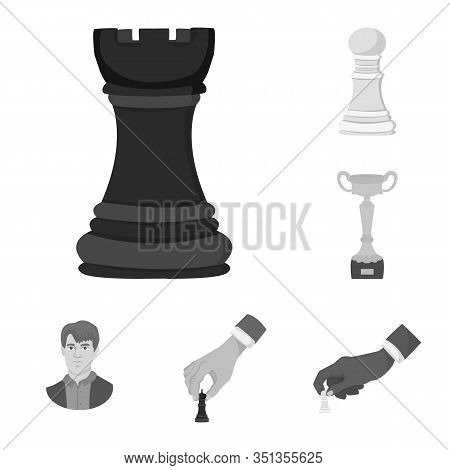 Vector Design Of Tactical And Play Symbol. Collection Of Tactical And Thin Stock Vector Illustration