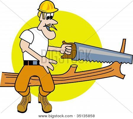 Tree Cutting Trimming Service Clip Art