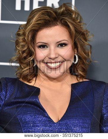 LOS ANGELES - JAN 12:  Justina Machado arrives for the 25th Annual Critics' Choice Awards on January 12, 2020 in Santa Monica, CA
