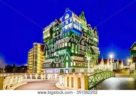 Zaandam, The Netherlands, May 8, 2017: Intell Hotel At Zaandam Station In Accordance With The Charac