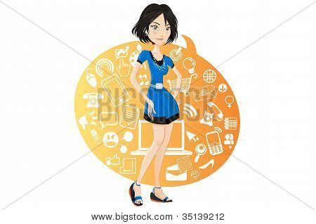 Social Networking Girl
